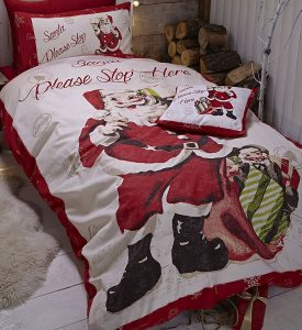 Retro Santa Single Bedding