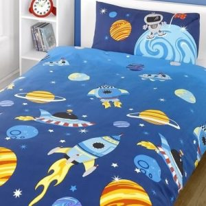 Space Rocket Toddler Bedding
