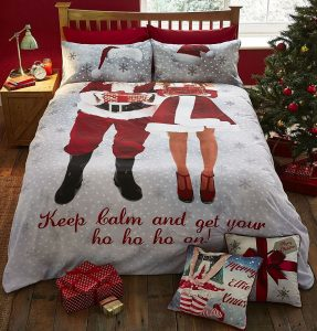 Santa Selfie king size bedding