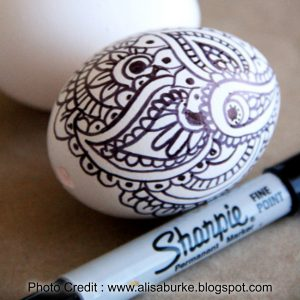 Sharpie Zentangle Eggs