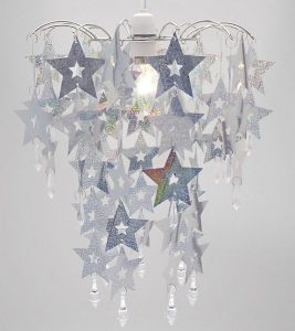 Silver Sparkle Star Chandelier