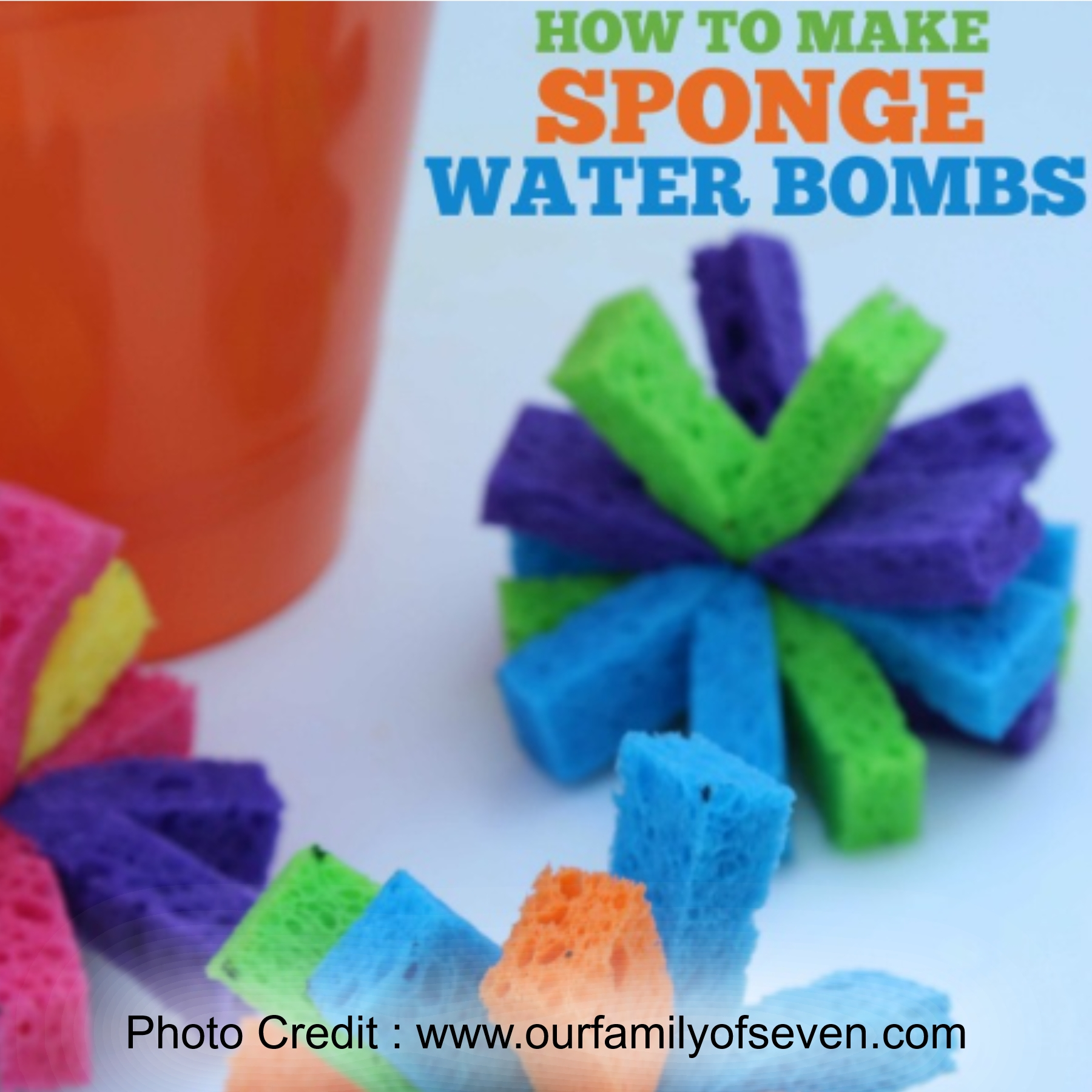 Sponge Water Bombs from Our family of Seven