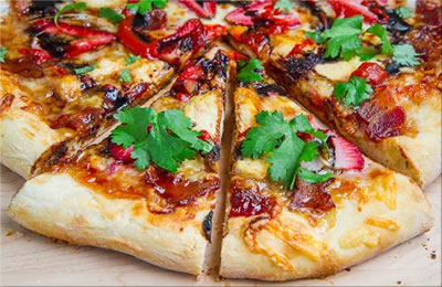 Balsamic Strawberry And Chicken Pizza
