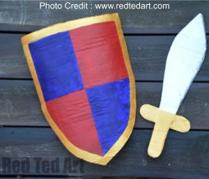 Knights Shield And Sword from Red Ted Art
