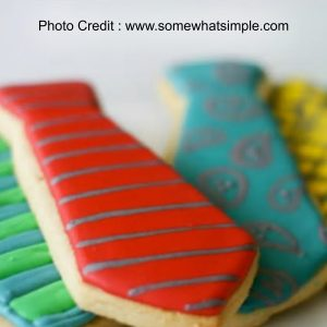 Tie Shaped Biscuits from Some What Simple
