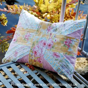 Shabby Chic Union Flag Cushion from Craft Cotton Blog