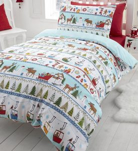 White Chirstmas toddler Christmas bedding