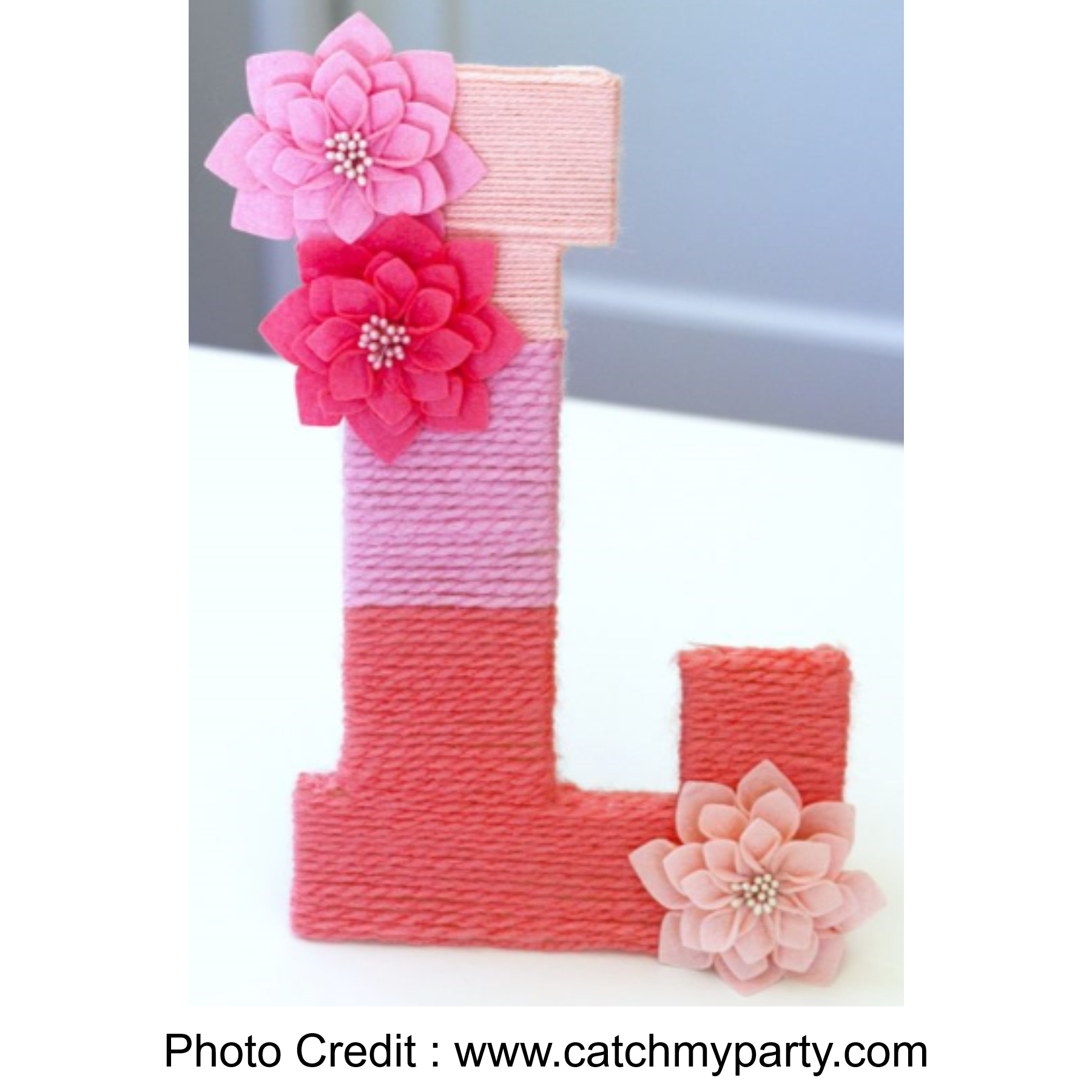 Yarn Wrapped Letters from Catch My Party