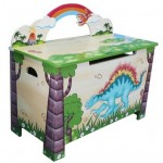 Hand crafted Beautiful Dinosaur Toy Box